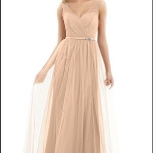 Alexia Designs Champagne Tulle Bridesmaid Dress